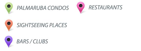Aruba map condos Aruba